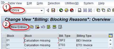 Define & Assign Blocking Reason in SAP (OVV4, S_ALR_87007670)