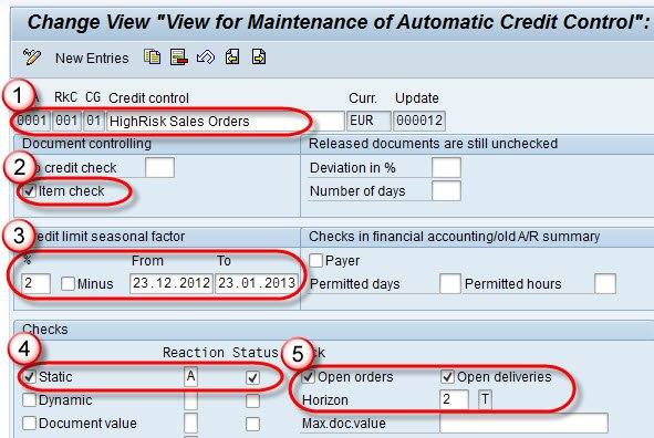 SAP Credit Management Tutorial: OVA8