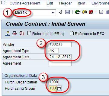 Outline Agreement In Sap Contract Amp Scheduling Agreement Me31