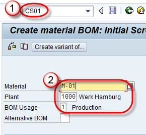 CS01: How to Create Bill of Material (BoM) in SAP SD