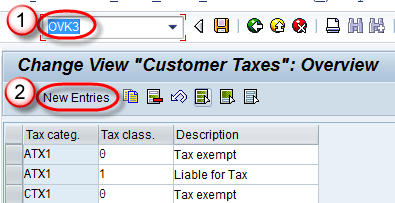 SAP SD Tax Determination Procedure Tutorial: VK12, OX10, OVK4, OVK1
