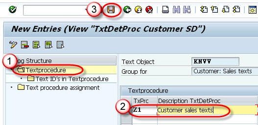 How to create Text Type in SAP: VOTXN
