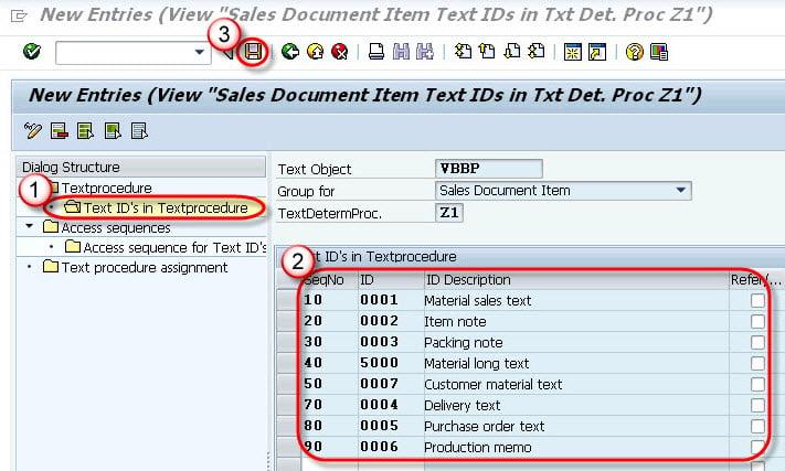text determination for sales document sap votxn