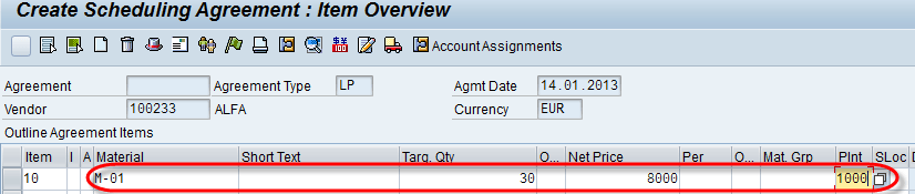 Outline Agreement In Sap Contract Scheduling Agreement Me31