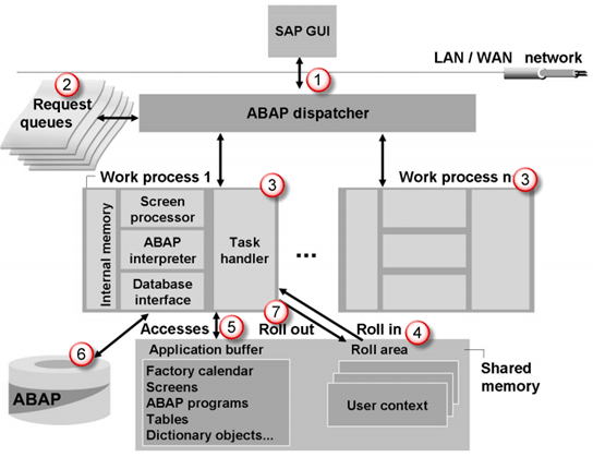 how the sap logon process works?