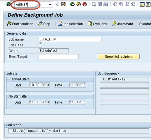 SAP Background Job Processing SM36: Create, Schedule, Reschedule