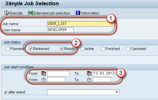 SAP Background Job Processing SM36: Create, Schedule, Reschedule