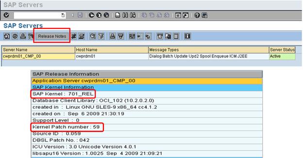 Updating the sap kernel