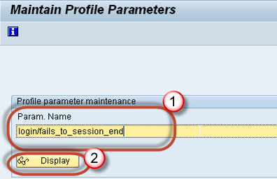 SAP RZ11: Parameter (login/fails_to_session_end) Limit Logon Attempts