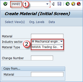 How to Create Material Master Data MM01 in SAP