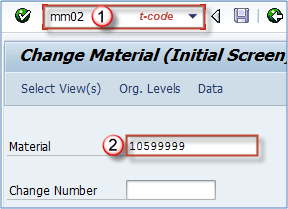 How to Change Material Master Data (MM02, MM03) in SAP