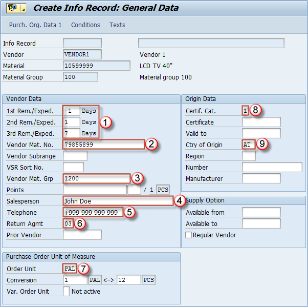 ME11: How to Create a Purchase Info Record in SAP