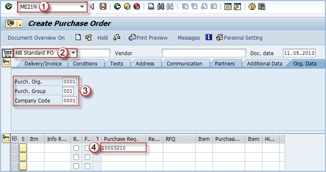 How to Convert Purchase Requistion to Purchase Order in SAP