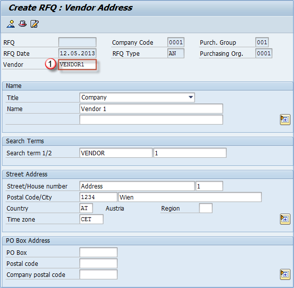 Me41 How To Create Rfq Request For Quotation In Sap