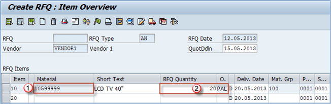 ME41: How to Create RFQ (Request for Quotation) in SAP