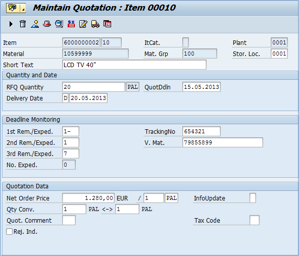 me47 how to create quotation in sap mm