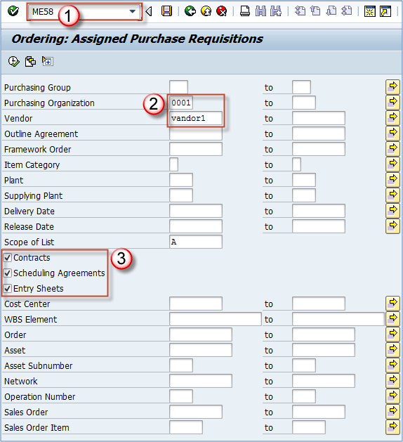 template purchase order sap  How to Create Purchase Order with Reference ME58 | ME21N in SAP