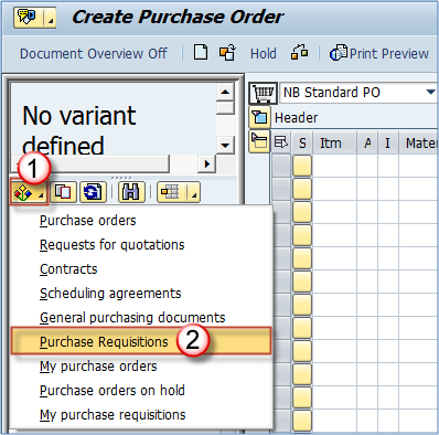 How to Create Purchase Order with Reference ME58 | ME21N in SAP