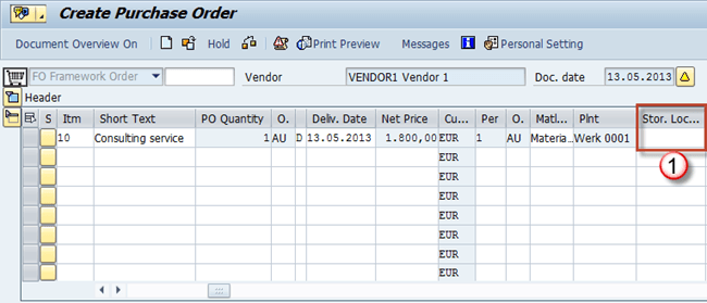 Service Purchase Order in SAP: ME23N