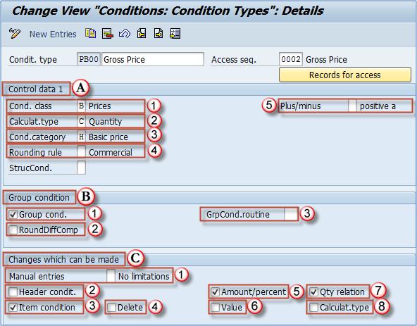 Define Condition Types in SAP
