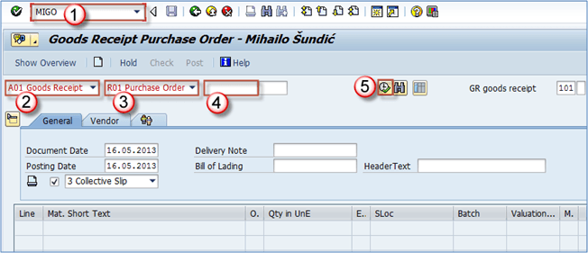 How to Create Goods Receipt in SAP: MIGO, MB1C, MB03