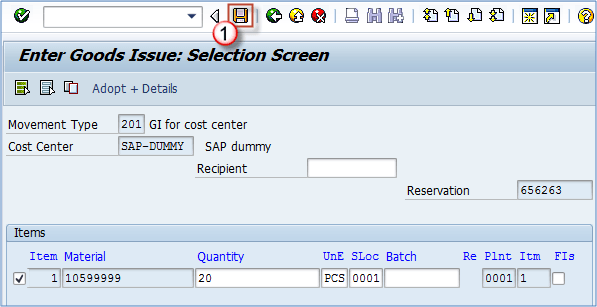 Reservation of Inventory in SAP MB21, MB1A, MBST, MB22