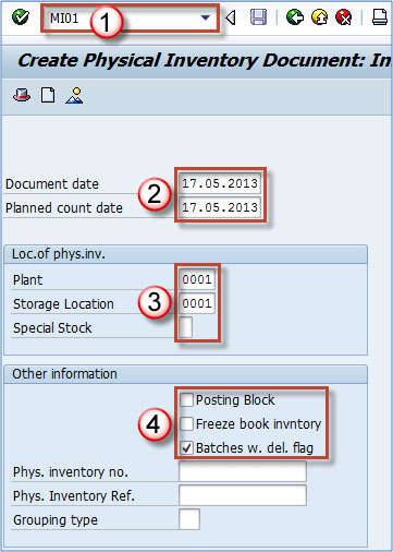 Sap Physical Inventory Tutorial Mi01 Mi02 Mi04 Mi07