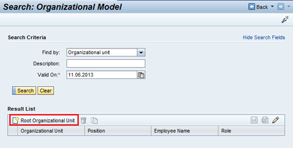 SAP CRM Organizational Management