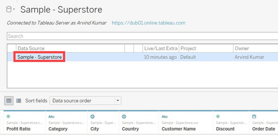 Tableau Data Connections to Databases and Multiple Sources