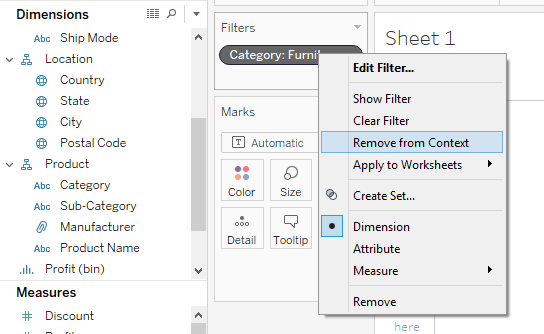 Types of Filters in Tableau: Condition by Formula, Extract