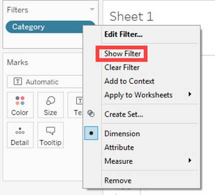 Types of Filters in Tableau: Condition by Formula, Extract, Context