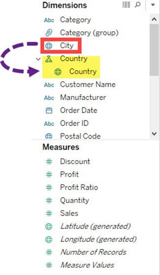 How to Create Hierarchy in Tableau