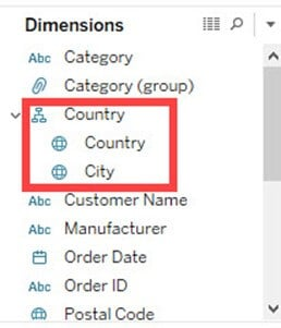 Creating Hierarchy in Tableau