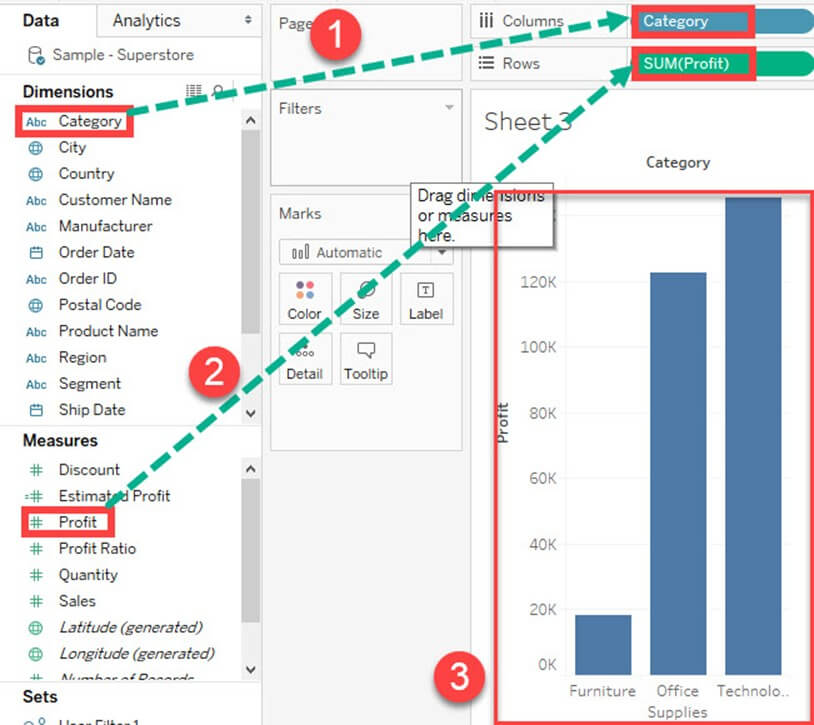 Tableau Charts & Graphs Tutorial: Types & Examples