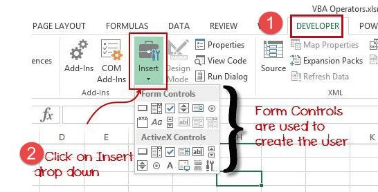 VBA Excel Form Control & ActiveX Control